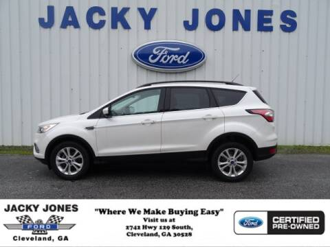 2017 Ford Escape SE for sale at Jacky Jones Ford in Cleveland GA