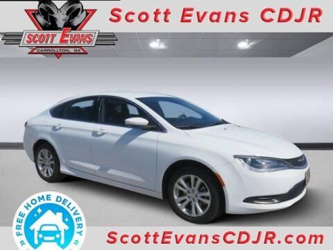 2016 Chrysler 200 for sale at SCOTT EVANS CHRYSLER DODGE in Carrollton GA