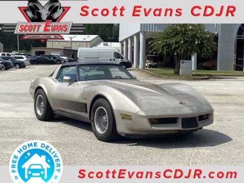 1982 Chevrolet Corvette for sale at SCOTT EVANS CHRYSLER DODGE in Carrollton GA