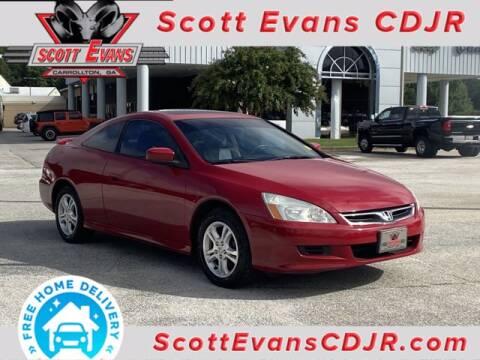 2007 Honda Accord for sale at SCOTT EVANS CHRYSLER DODGE in Carrollton GA