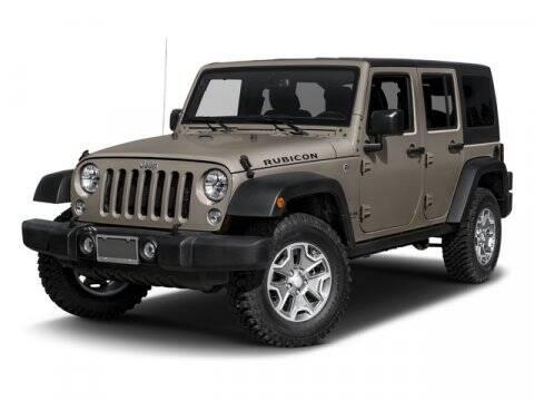2016 Jeep Wrangler Unlimited for sale at SCOTT EVANS CHRYSLER DODGE in Carrollton GA