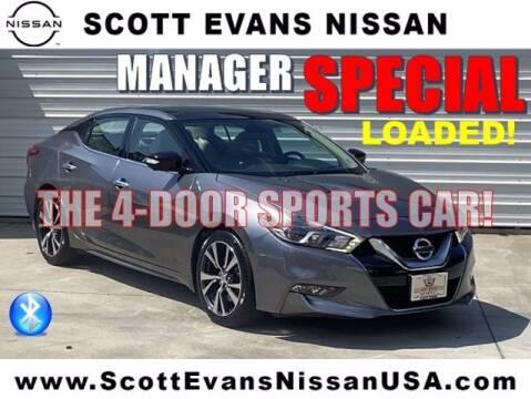 2016 Nissan Maxima for sale at Scott Evans Nissan in Carrollton GA