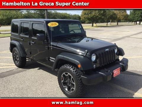2016 Jeep Wrangler Unlimited for sale in Derby KS