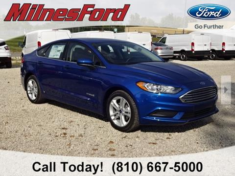 2018 Ford Fusion Hybrid for sale in Lapeer, MI