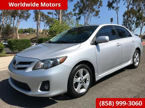 2012 Toyota Corolla for sale in San Diego CA