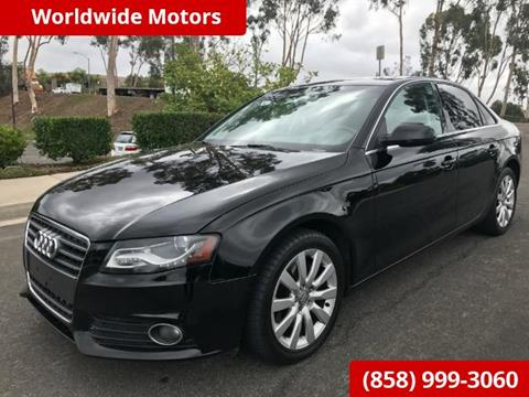 2010 Audi A4 for sale in San Diego, CA