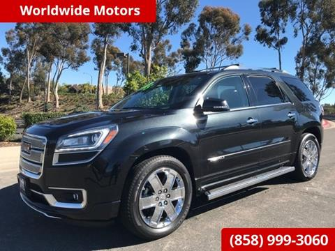 2013 GMC Acadia for sale in San Diego, CA