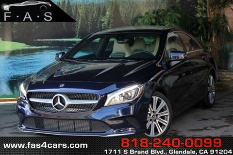 2018 Mercedes-Benz CLA for sale in Glendale, CA