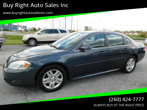 2011 Chevrolet Impala LT Fleet for sale at Buy Right Auto Sales Inc in Fort Wayne IN