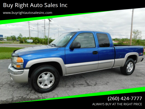 2004 GMC Sierra 1500 SLE for sale at Buy Right Auto Sales Inc in Fort Wayne IN