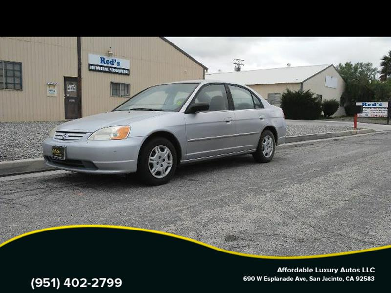 2002 Honda Civic for sale at Affordable Luxury Autos LLC in San Jacinto CA