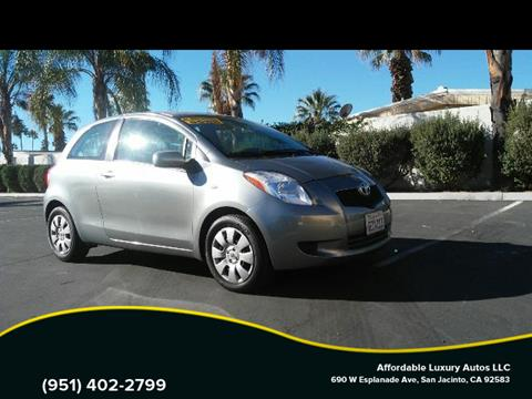 2008 Toyota Yaris for sale at Affordable Luxury Autos LLC in San Jacinto CA
