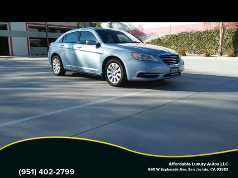 2014 Chrysler 200 for sale at Affordable Luxury Autos LLC in San Jacinto CA