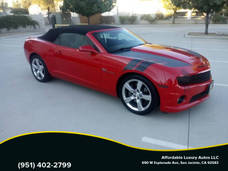 2012 Chevrolet Camaro for sale at Affordable Luxury Autos LLC in San Jacinto CA