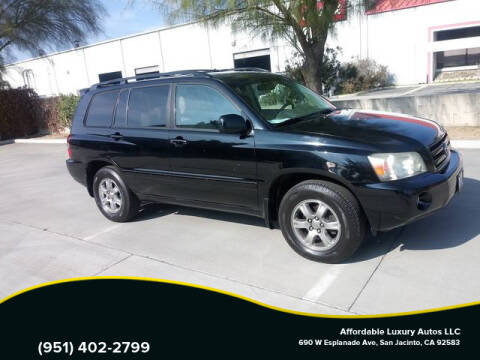 2007 Toyota Highlander for sale at Affordable Luxury Autos LLC in San Jacinto CA
