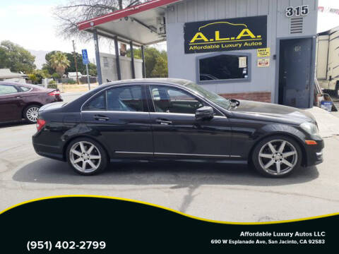 2013 Mercedes-Benz C-Class for sale at Affordable Luxury Autos LLC in San Jacinto CA