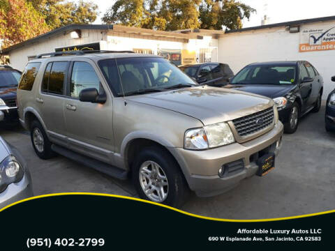 2002 Ford Explorer for sale at Affordable Luxury Autos LLC in San Jacinto CA