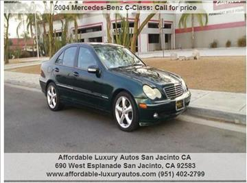 2004 Mercedes-Benz C-Class for sale at Affordable Luxury Autos LLC in San Jacinto CA