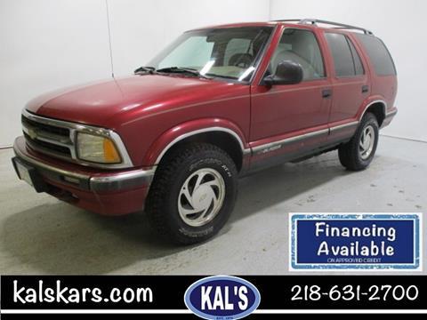 1996 Chevrolet Blazer For Sale In Wadena Mn