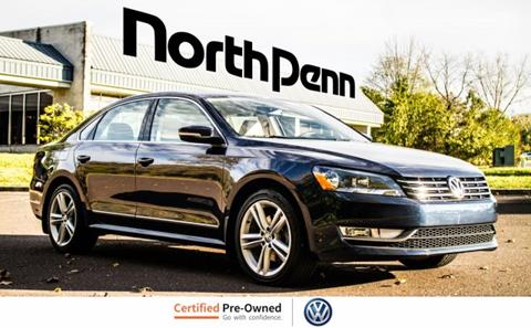 2013 Volkswagen Passat for sale in Colmar, PA