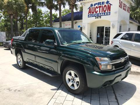 2002 Chevrolet Avalanche for sale in Lake Worth, FL