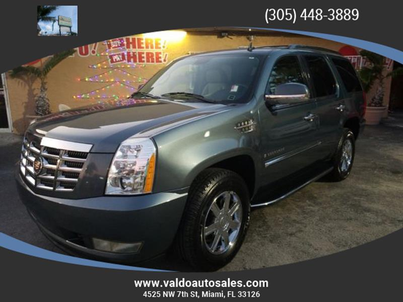 2009 Cadillac Escalade In Miami Fl Valdo Auto Sales Corp