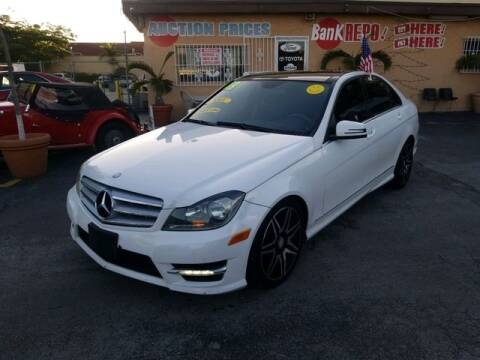2013 Mercedes-Benz C-Class for sale at VALDO AUTO SALES in Miami FL
