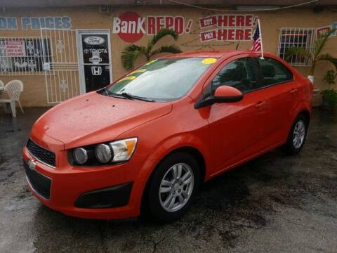 2012 Chevrolet Sonic for sale at VALDO AUTO SALES in Miami FL
