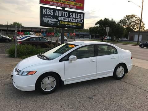 2008 Honda Civic for sale at KBS Auto Sales in Cincinnati OH