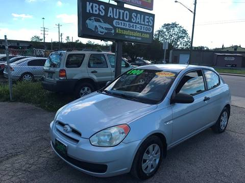 2007 Hyundai Accent for sale at KBS Auto Sales in Cincinnati OH