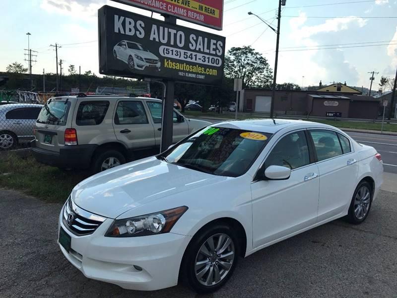 2012 Honda Accord Ex L >> 2012 Honda Accord Ex L V6 4dr Sedan In Cincinnati Oh Kbs