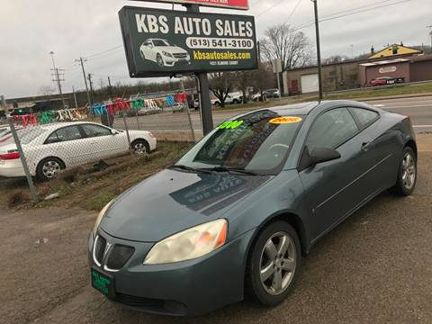 2006 Pontiac G6 for sale at KBS Auto Sales in Cincinnati OH
