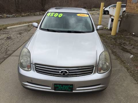 2003 Infiniti G35 for sale at KBS Auto Sales in Cincinnati OH