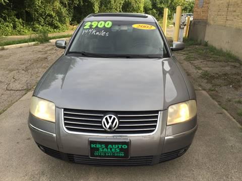 2002 Volkswagen Passat for sale at KBS Auto Sales in Cincinnati OH
