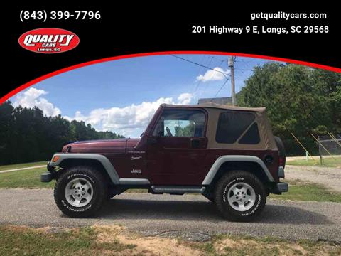 2002 Jeep Wrangler for sale in Longs, SC