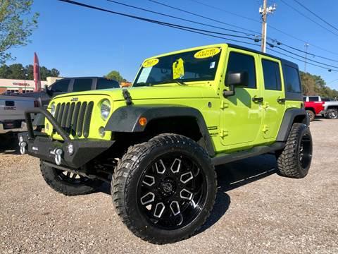 2017 Jeep Wrangler Unlimited for sale at 216 Auto Sales in Mc Calla AL