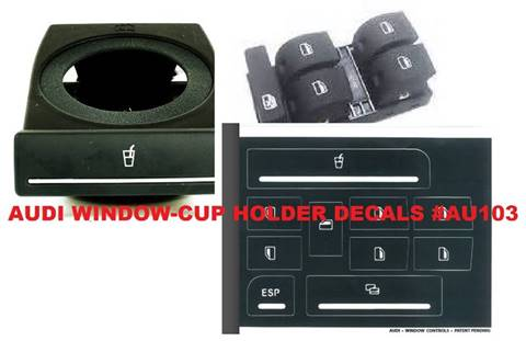 Audi CupHolder and Window Decals for sale in Gautier, MS