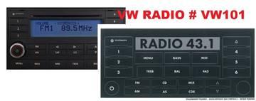 Volkswagen Radio Decals for sale in Gautier, MS