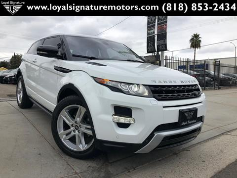 2013 Land Rover Range Rover Evoque Coupe for sale in Van Nuys, CA