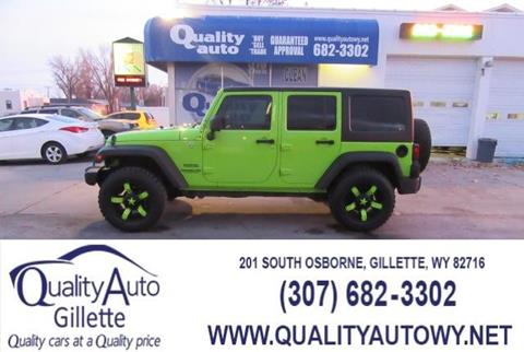 2013 Jeep Wrangler Unlimited for sale in Casper, WY