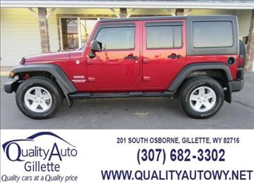 2012 Jeep Wrangler Unlimited for sale in Casper, WY