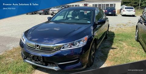 2016 Honda Accord for sale in Quinton, VA