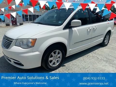 2012 Chrysler Town and Country for sale at Premier Auto Solutions & Sales in Quinton VA