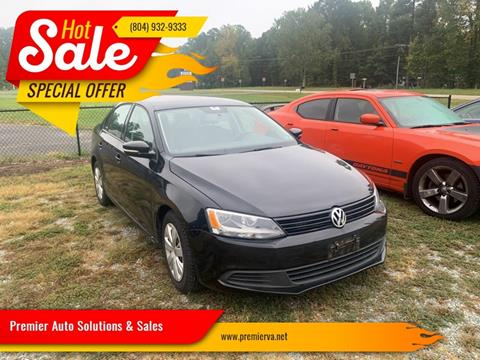 2012 Volkswagen Jetta for sale at Premier Auto Solutions & Sales in Quinton VA