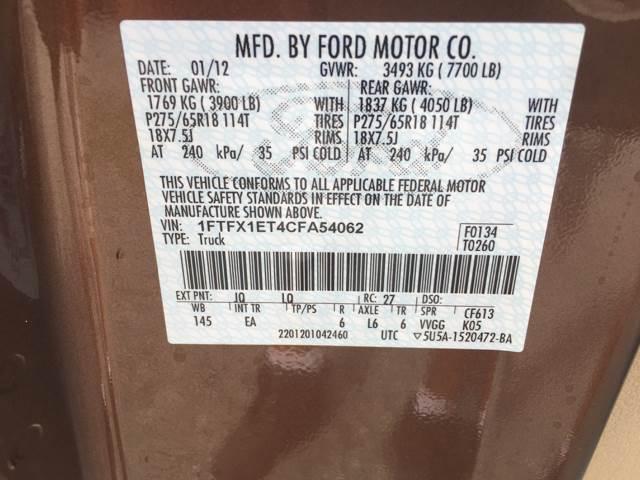 2012 Ford F-150 4x4 Lariat 4dr SuperCab Styleside 6.5 ft. SB - Quinton VA