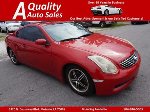 2005 Infiniti G35 for sale in Metairie, LA