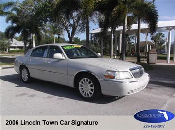 2006 Lincoln Town Car for sale in Bonita Springs, FL