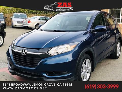 2016 Honda HR-V for sale in La Mesa, CA