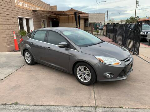 2012 Ford Focus for sale at CONTRACT AUTOMOTIVE in Las Vegas NV