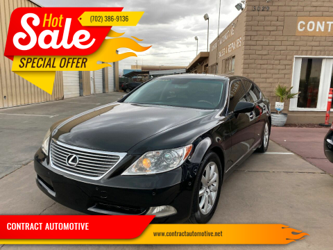 2009 Lexus LS 460 for sale at CONTRACT AUTOMOTIVE in Las Vegas NV